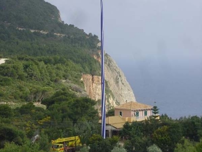 3-46m flag pole in Greece